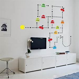 Wall decal pacman wall decals gamer39s room ideas video for Pacman wall decals gamers room ideas