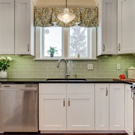 green kitchen cabinets my work curtains up tailored valance in a remodeled 1920 1393