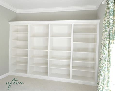 how to build a built in bookcase with doors from billys to built ins centsational