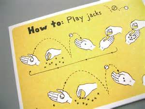 how to play jacks postcard