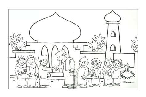mewarnai ramadhan  idul fitri kreasi warna
