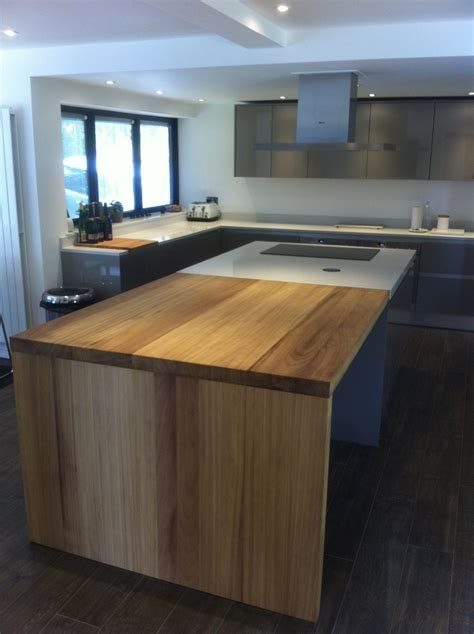 kitchen island ideas iroko work island extension kitchen design