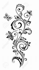 flowers clip art border black and white - Clipground