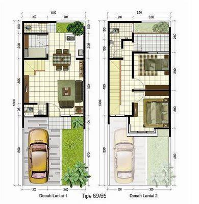 desain rumah minimalis  lantai luas tanah  rumah