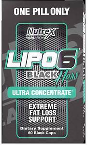Lipo-6 Black Hers Ultra Concentrate By Nutrex At Bodybuilding Com
