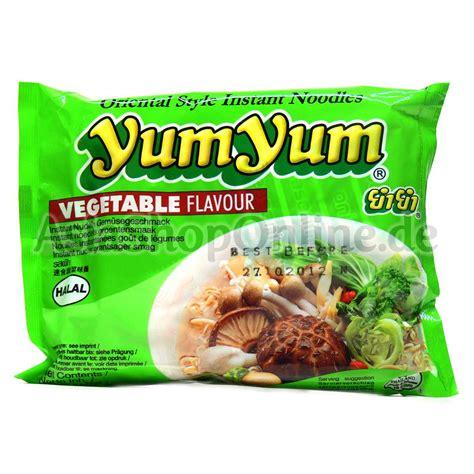 yum yum nudeln vegetarisch yum yum 60g instant nudeln