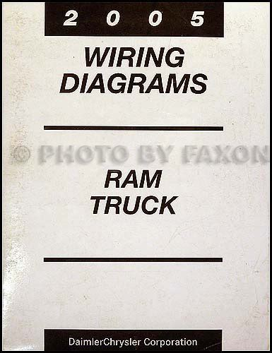 Dodge Ram Truck Wiring Diagram Manual Original
