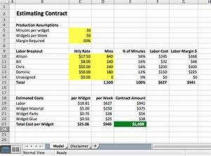 Staffing Model Excel How To Price Contracts Excel Models