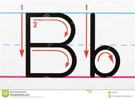 Letter B Handwriting Stock Image