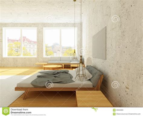 style de chambre intérieur confortable de chambre à coucher dans le style