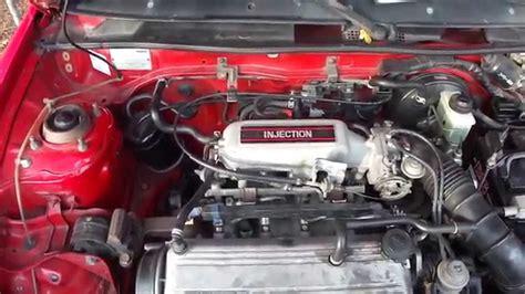 Service Manual [1986 Mazda Familia Engine Removal Process