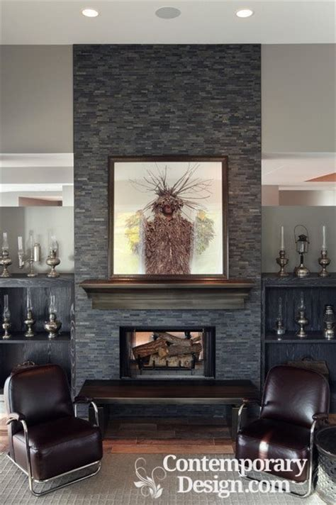 grey painted fireplace contemporary design