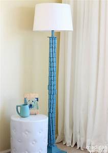 Light up the living room with these 25 diy floor lamps for Floor lamp with table makeover