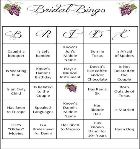 bridal shower bingo template 6 best images of bingo template printable bridal shower bingo free printables