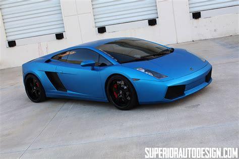 car lamborghini blue matte blue wrapped lamborghini gallardo by superior auto