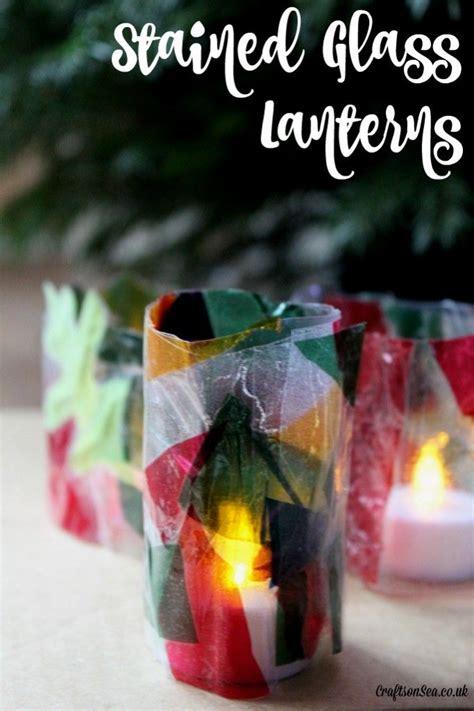 stained glass christmas lantern craft lantern craft