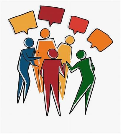Inclusive Talking Clipart Diverse Team Transparent Speaking
