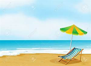 Shore clipart beach scene - Pencil and in color shore ...