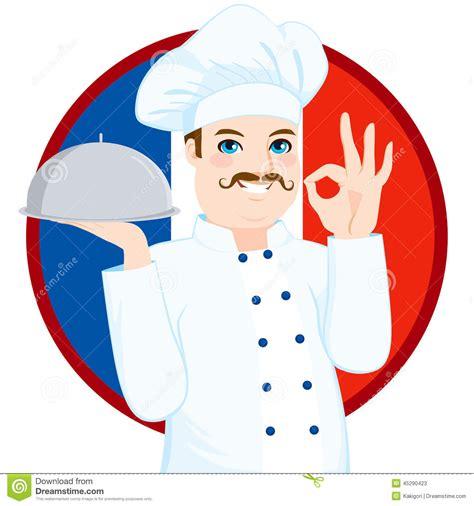 les chefs de cuisine francais chef français with mustache de cuisine illustration de