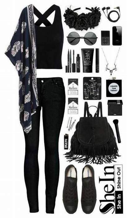 Outfits Polyvore Gothic Outfit Emo Casual Summer