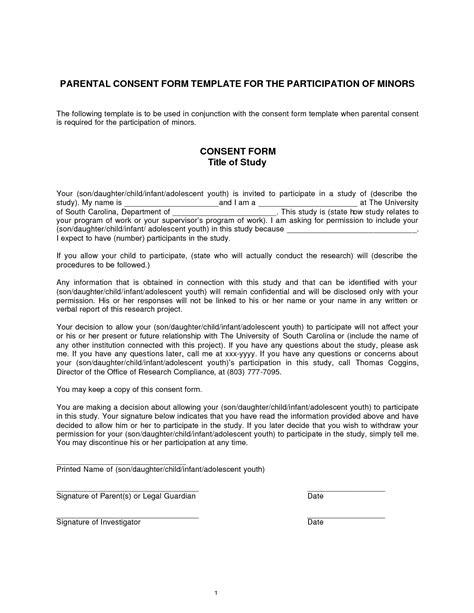 consent form template best photos of consent to participate form template consent form template research consent