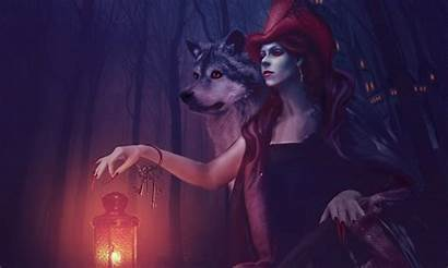 Wolf Wallpapers Witch Wolves Dark Fantasy Moon