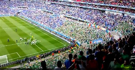 watch fans stay behind after final whistle to show their appreciation for brave ireland team