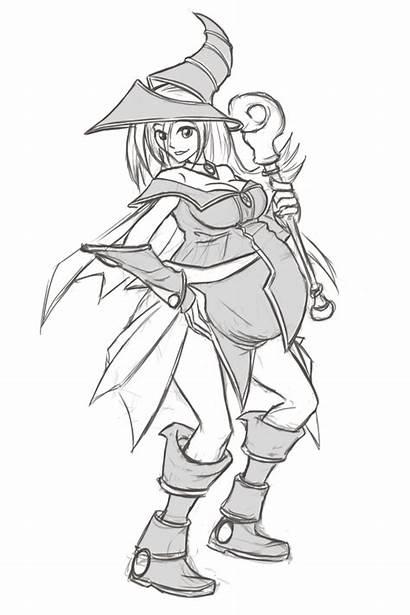 Magician Dark Sketch Mother Riddleaugust Deviantart