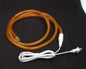 How To Cut 120v Rope Light Custom Amber Rope Light Kit 120v 1 2 Quot Novelty Lights