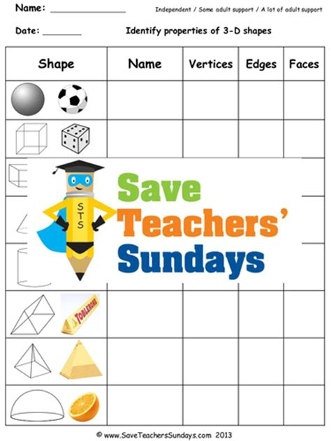 3d shapes ks2 worksheets lesson plans powerpoint and
