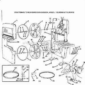 Craftsman 113243410 Parts List And Diagram