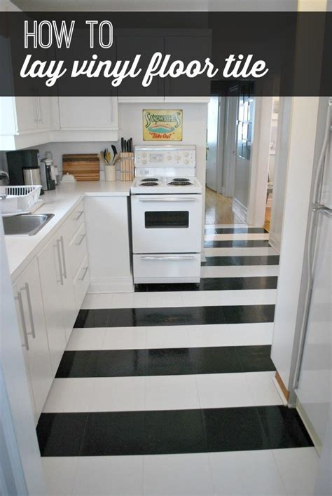 lay vinyl black  white flooring  stripes