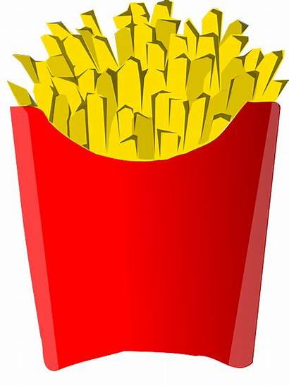 Chips Fries Clipart Potato French Fast Clip
