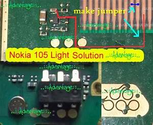 Nokia 105 Display Light Jumper Picture Help Step By Step