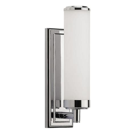 buy heathfield co henri bathroom wall light chrome