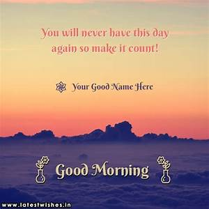 write name on W... Cebuano Good Morning Quotes