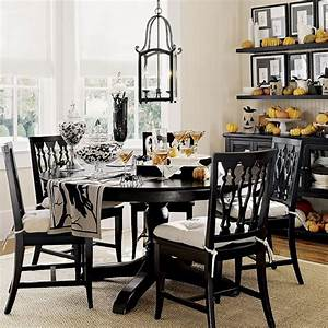 19, Black, And, White, Traditional, Dining, Room, Ideas