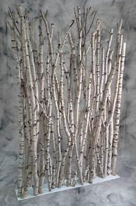Branche De Bois Deco : paravent en petits troncs de bouleaux bs pinterest bouleau tronc et paravent ~ Teatrodelosmanantiales.com Idées de Décoration