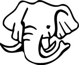 Elephant Face Coloring Page