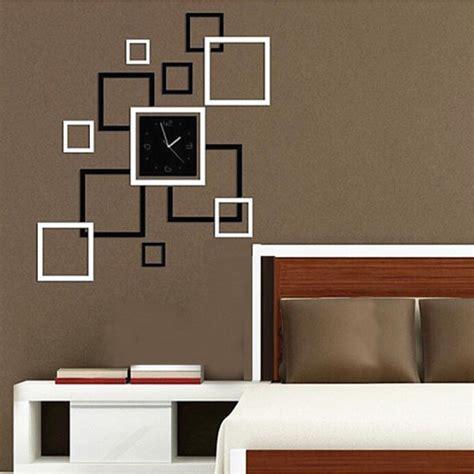 Home Decor Sticker by Buy Diy Mirror Wall Clock Sticker Modern Frame Sticker