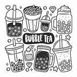 Tea Coloring Bubble Doodle Boba Icons Vector Drawn Freepik Mano Colorear Getrokken Clipart Kleuren Disegnata Psd Svg Gambar Minuman Burbujas sketch template
