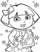 Coloring Printable Dora sketch template