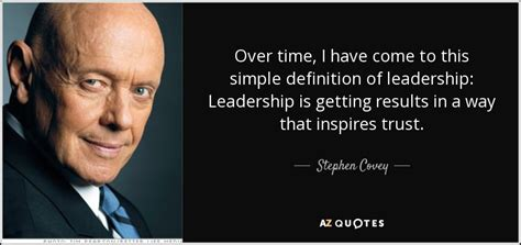 stephen covey quote  time      simple