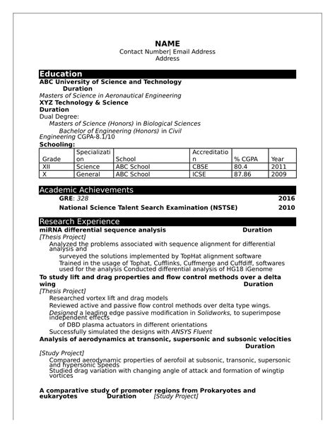 Attractive Resume Templates Free Download Indian - Skushi