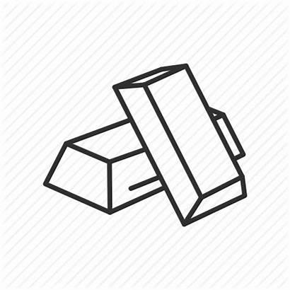 Gold Silver Bars Drawing Icon Precious Clipart