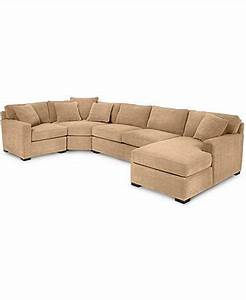 radley 4 piece fabric chaise sectional sofa custom colors With radley fabric 5 piece modular sectional sofa