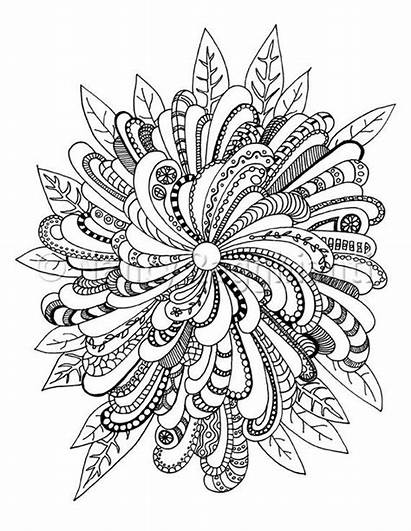 Coloring Pages Printable Complex Mandala Floral Adults