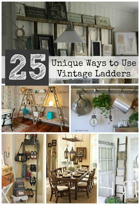 unique ways to use 25 unique ways to decorate with vintage ladders driven 4