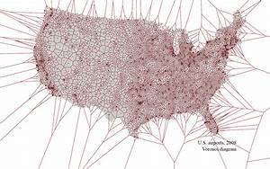 Us Airports Voronoi Diagram  The Eastern Seaboard Is