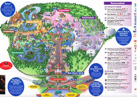 magic kingdom  walt disney world  park map magic